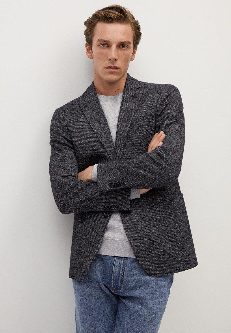 Mango - AUS WOLLE-BAUMWOLL-MIX - Blazer jacket - grau