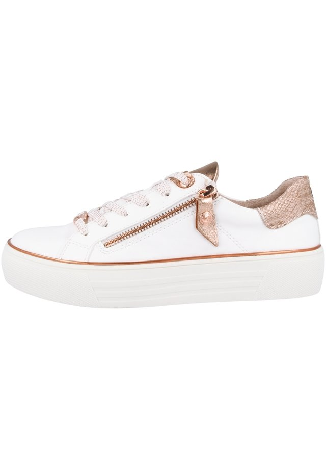 Sneakers laag - white-rosegold (42bm234-610592)
