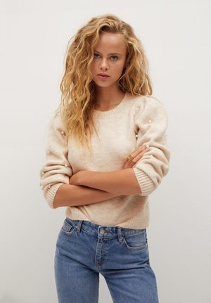PAPAYA - Strickpullover - ecru