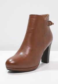 Anna Field - High heeled ankle boots - cognac - 2