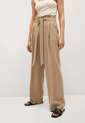 STRAIGHT-FIT - Trousers - zand
