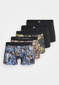 5 PACK - Pants - black/gold
