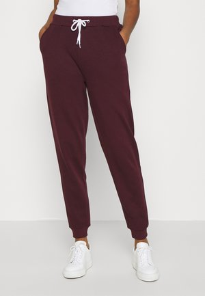 REGULAR FIT JOGGER WITH CONTRAST CORD - Pantalones deportivos - dark red