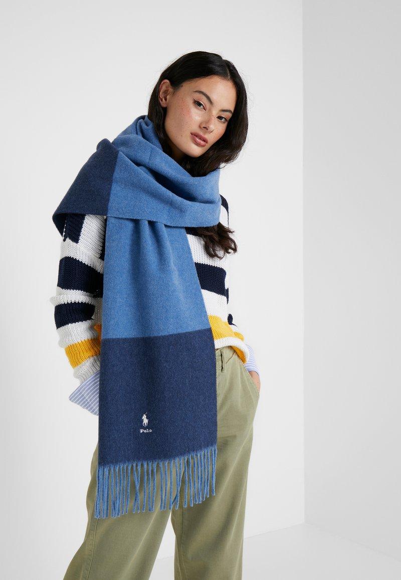 Polo Ralph Lauren - SCARF - Sciarpa - sky blue/navy