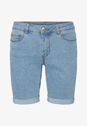 SHORTS VMSEVEN NORMAL WAIST - Denim shorts - light blue denim