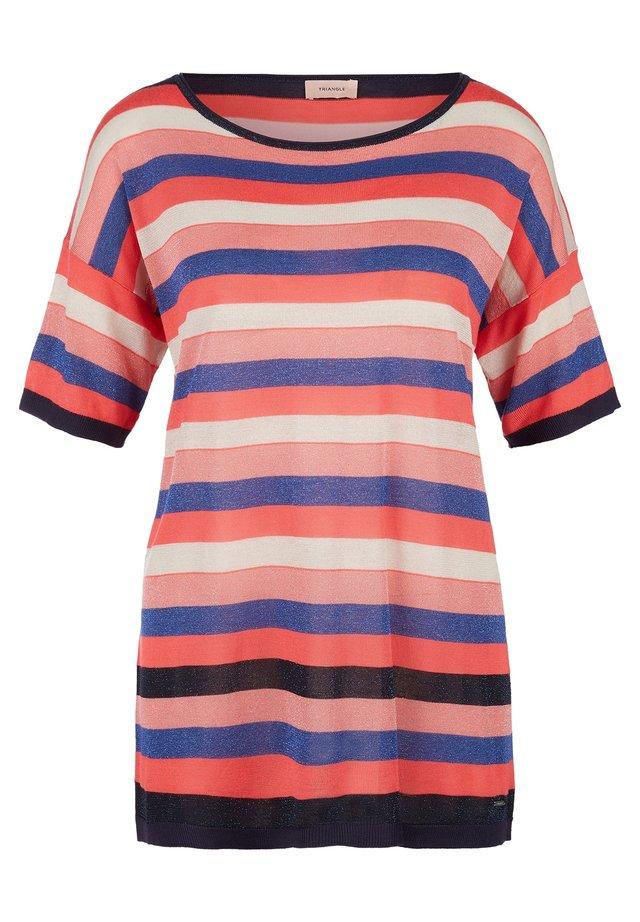 MIT GLITZER-EFFEKT - Print T-shirt - blue stripes