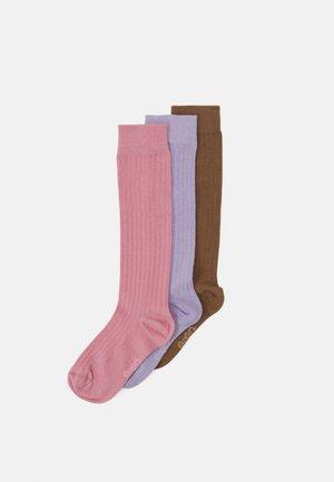 KNEEHIGH 3 PACK UNISEX - Knee high socks - purple