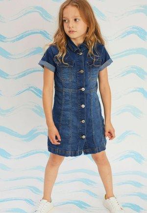 CHEST POCKETS - Denim dress - blue denim