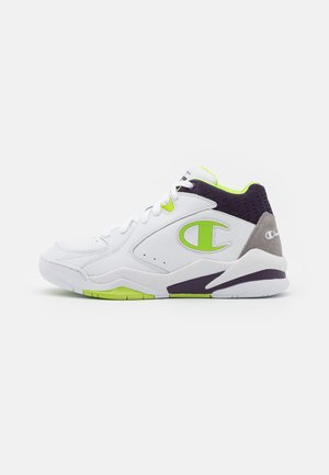MID CUT SHOE ZONE MID - Basketball shoes - white/lime