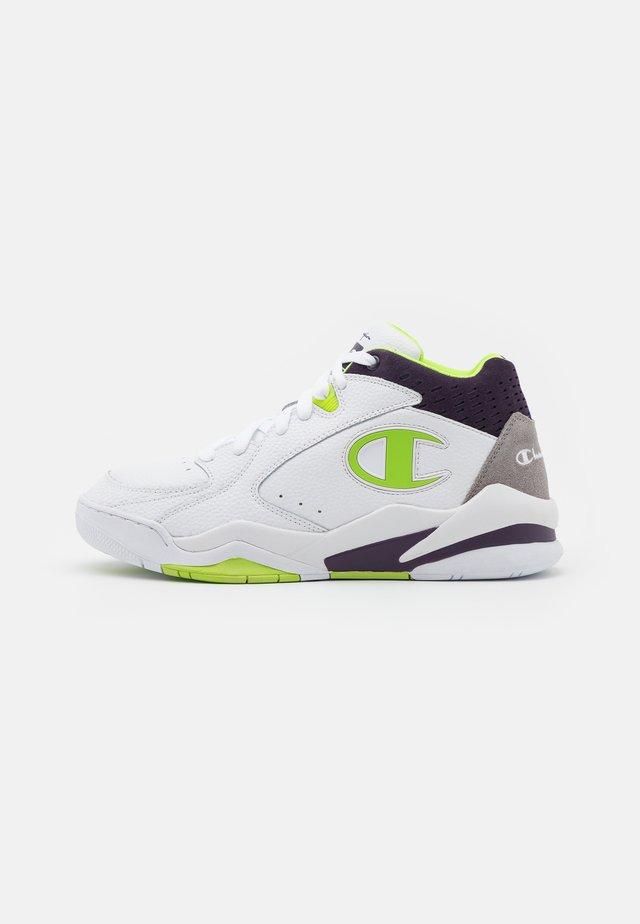 MID CUT SHOE ZONE MID - Chaussures de basket - white/lime
