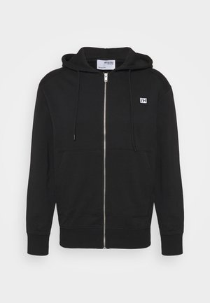 SLHCOREY HOOD ZIP - Zip-up hoodie - black