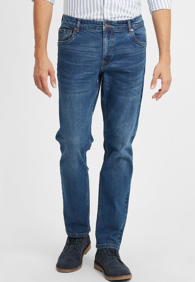 PIRKO - Straight leg jeans - middle blue denim