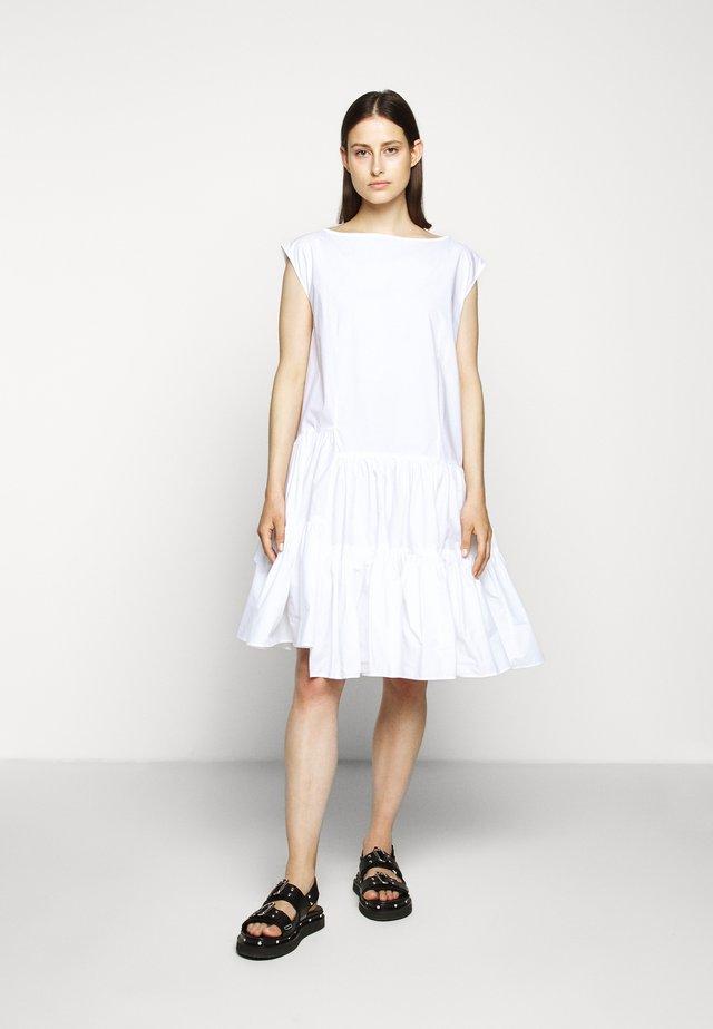 POPLIN DRESS - Day dress - white