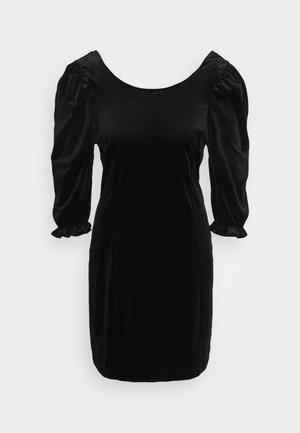 WILMA DRESS - Pouzdrové šaty - solid black