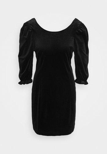 WILMA DRESS - Shift dress - solid black