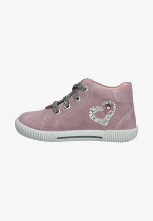 Casual lace-ups - make up/silver/plum