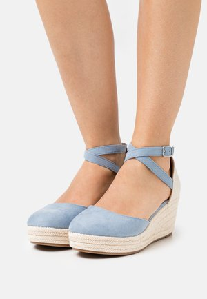 COMFORT - Platform heels - light blue