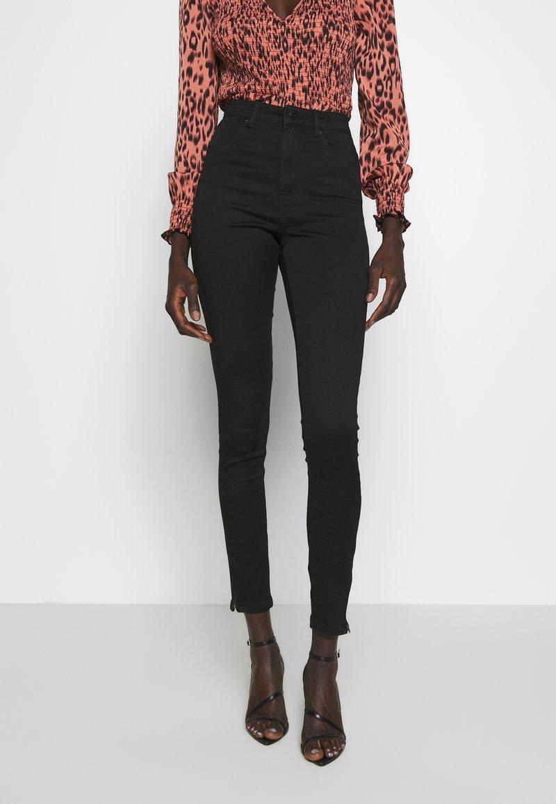 Vero Moda Tall - VMSOPHIA ANKLE ZIP - Jeans Skinny Fit - black