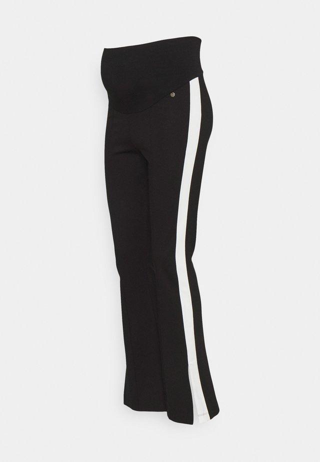 PANTS FLARED PIPING SPLIT - Joggebukse - black