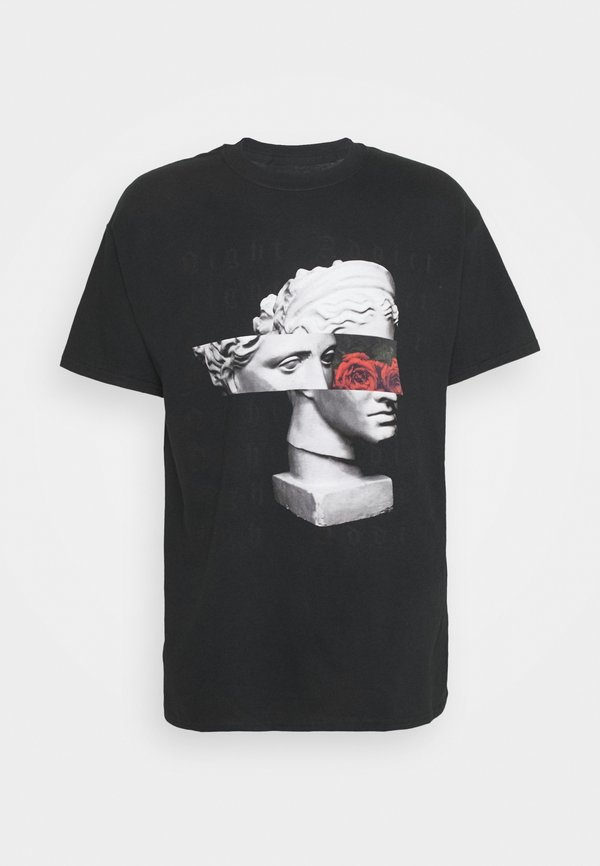 Night Addict ROMAN - T-shirt z nadrukiem - black/czarny Odzież Męska QBSD
