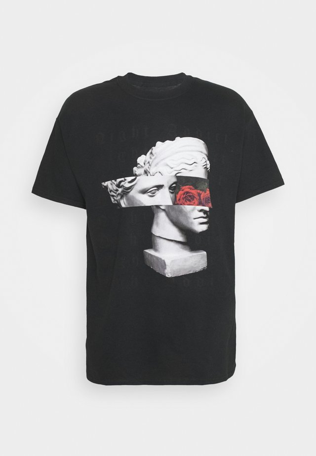 ROMAN - T-shirt con stampa - black