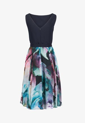 Cocktail dress / Party dress - dark blue/pink