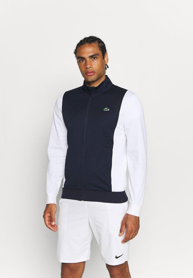 Lacoste Sport - TENNIS JACKET LOGO BACK - Verryttelytakki - navy blue/white