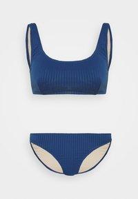 Cotton On Body - SQUARE NECK CROP FULL BOTTOM - Bikini - marina blue - 4