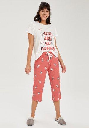 SET - Pyjama set - light pink/white