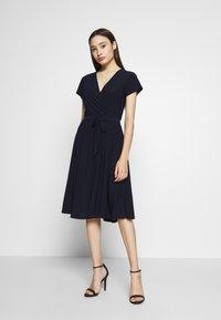 Wallis Petite - INK WRAP DRESS - Jersey dress - navy - 0