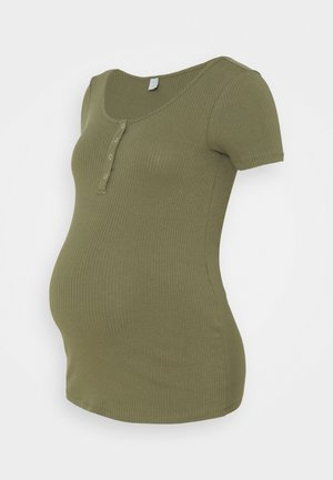 PCMKITTE  - Basic T-shirt - deep lichen green