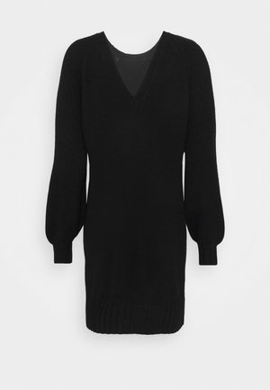 ONLSANDY DRESS - Gebreide jurk - black