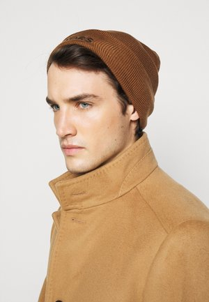 EMBROIDERED CUFF HAT UNISEX - Beanie - caramel/ black