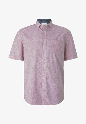 Shirt - red shades grid design