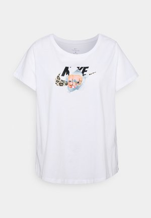 TEE FIERCE PLUS - Camiseta estampada - white