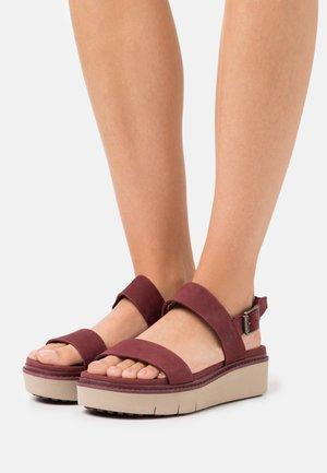 SAFARI DAWN - Platform sandals - chocolate truffle