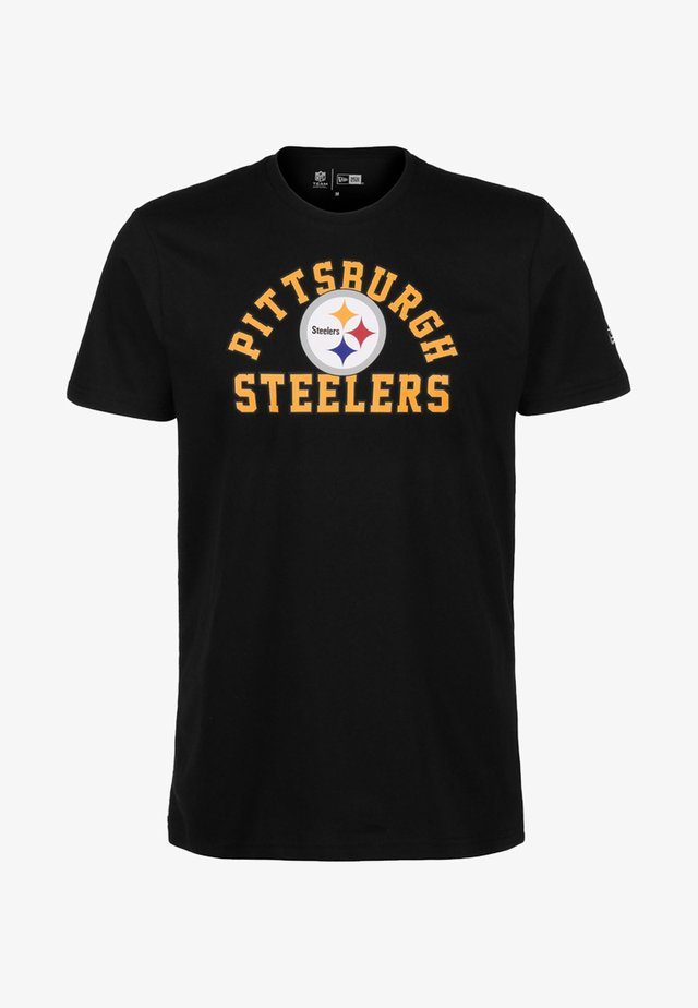 NFL PITTSBURGH STEELERS ARCH WORDMARK - T-shirt imprimé - black