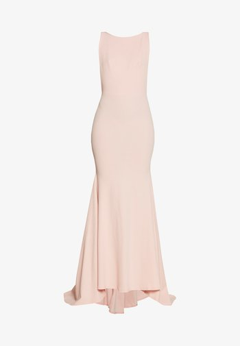 BRIDESMAID SLEEVELESS LOW BACK DRESS
