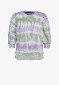 SET - MIT BATIK-LOOK - Sweatshirt - lilac green - 5