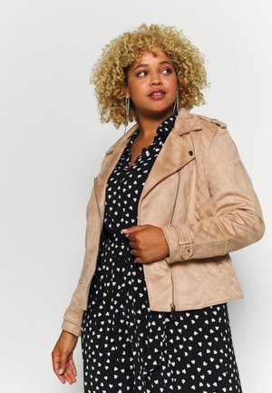 Faux leather jacket - brown light