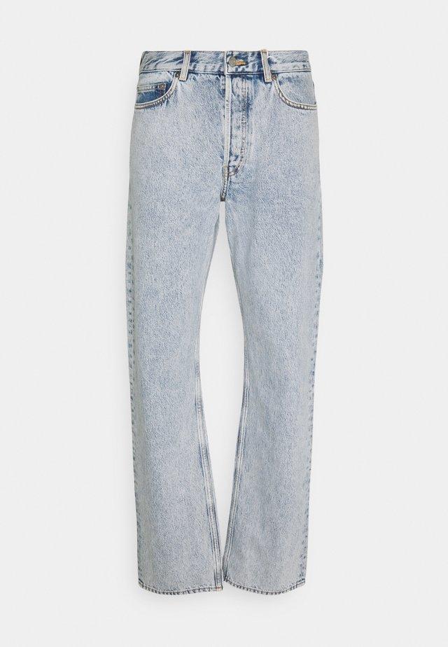 Jeans straight leg - turquoise dusty light