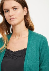 Vila - VIRIL LONG CARDIGAN  - Cardigan - petrol - 4