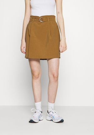 ONLMIRANDA SKIRT - Mini skirt - toasted coconut