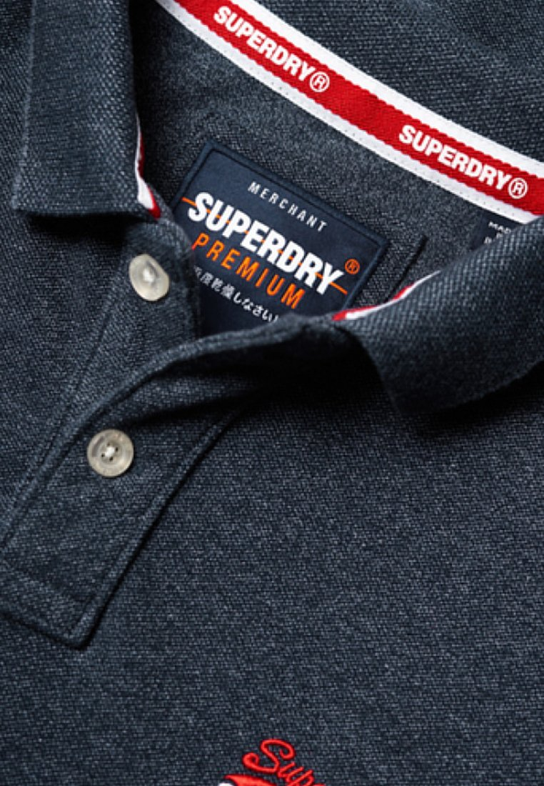 Superdry Polo - Creek Navy Grindle