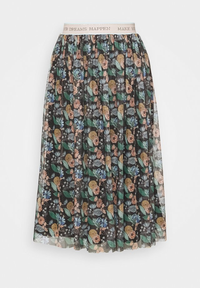 SKIRT PRINTED - A-linjekjol - black