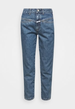 PEDAL PUSHER - Džíny Slim Fit - mid blue wash