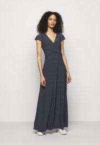 Lauren Ralph Lauren - PRINTED MATTE DRESS - Maxi dress - lighthouse navy - 0