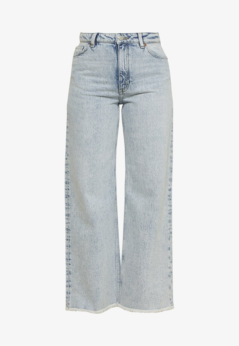 Monki - YOKO CROPPED - Jeans relaxed fit - blue