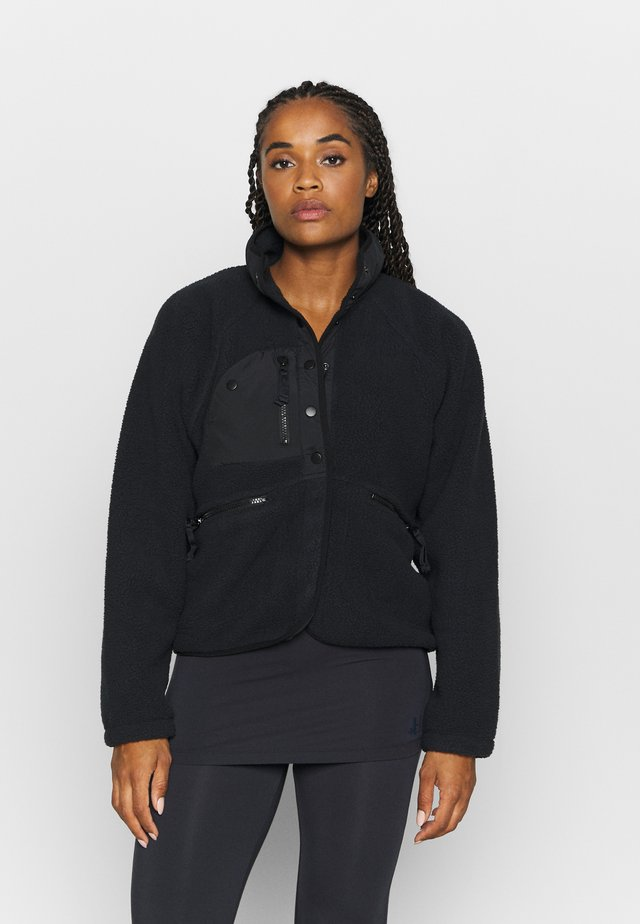 HIT THE SLOPES JACKET - Fleecejacka - black