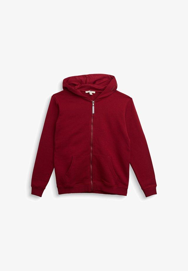 Zip-up hoodie - dark red